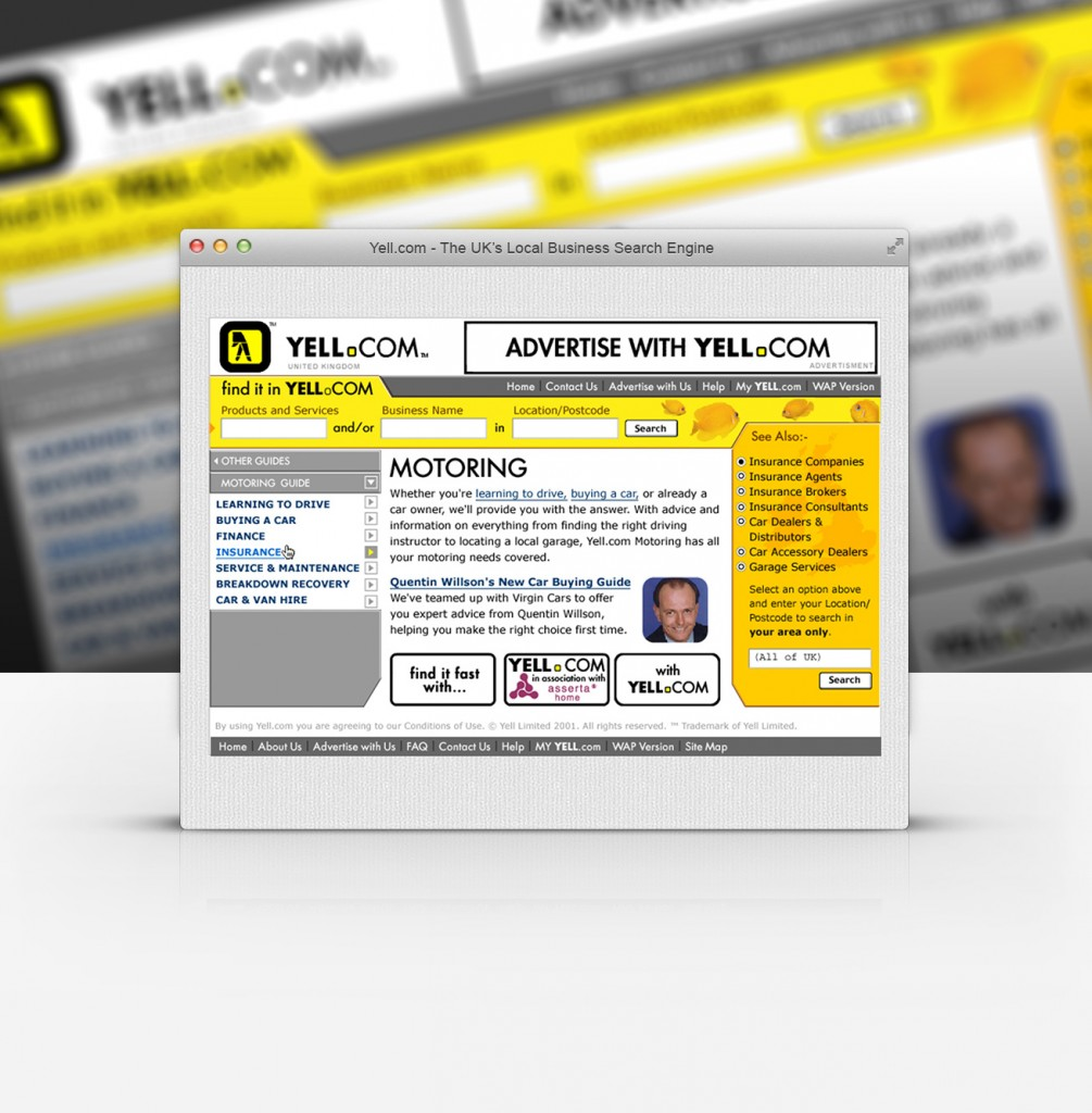 Yell - Usability Testing and Concept Designs