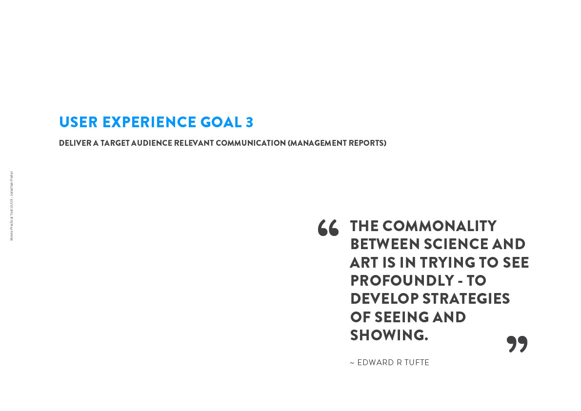 UX Goal 3: Audience Relevant Comms